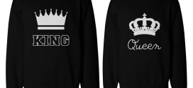 King and Queen Style 2 272x125 - King and Queen Shirts, T-shirts, Sweatshirts, Hoodies For Couples